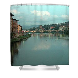 Shower Curtain featuring the photograph Arno River, Florence, Italy by Mark Czerniec
