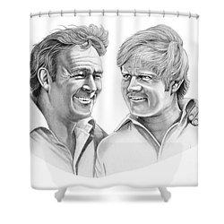 Arnold Palmer-jack Nicklaus Shower Curtain by Murphy Elliott