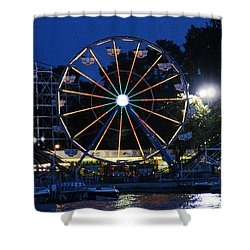 Arnolds Park At Night Shower Curtain