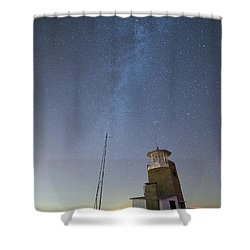 Shower Curtain featuring the photograph Arouca And The Milky Way by Bruno Rosa