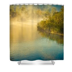Shower Curtain featuring the photograph Around The Bend by Don Schwartz