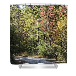 Around The Bend Shower Curtain by Ricky Dean
