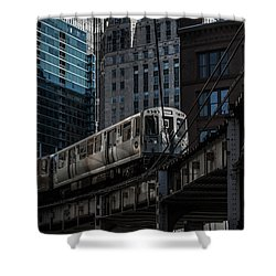 Around The Corner, Chicago Shower Curtain by Reinier Snijders