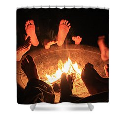 Around The Fireplace Shower Curtain
