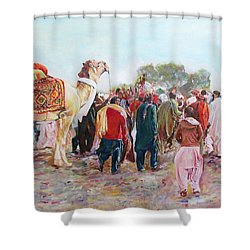 Around The Music Party Shower Curtain