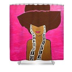 Around The Way Girl  Shower Curtain