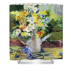 Cut Flowers Shower Curtain