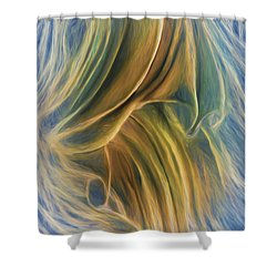 Arrhythmia And Blues Shower Curtain