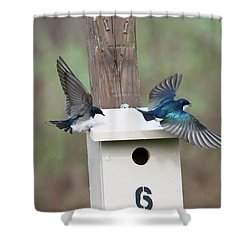 Arrival And Departure Shower Curtain by Gary Wightman