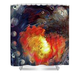 Shower Curtain featuring the digital art Arrival by Linda Sannuti