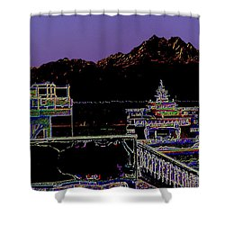 Arrival Shower Curtain by Tim Allen