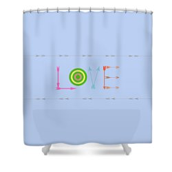 Arrow Love - Changeable Background Color Shower Curtain