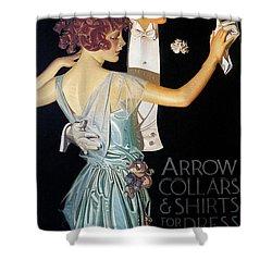 Arrow Shirt Collar Ad, 1923 Shower Curtain