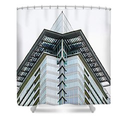 Shower Curtain featuring the photograph Arrowhead Architecture by Chris Dutton