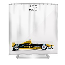 Arrows Asiatech A22 F1 Poster Shower Curtain