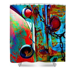 Arroyo Seco Truck Tailgate Shower Curtain