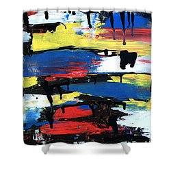 Art Abstract Painting Modern Black Shower Curtain