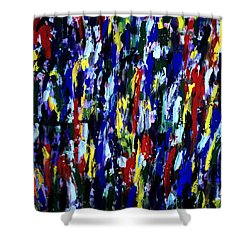 Art Abstract Painting Modern Color Shower Curtain