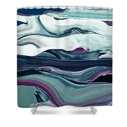 Art Abstract Shower Curtain by Sheila Mcdonald