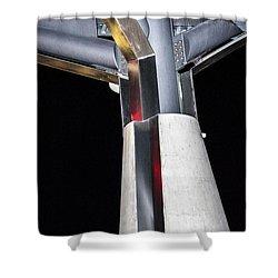 Art Center Roof Support Shower Curtain
