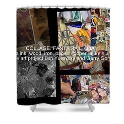 art collage Italy Shower Curtain