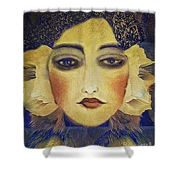 Art Deco  Beauty Shower Curtain by Alexis Rotella