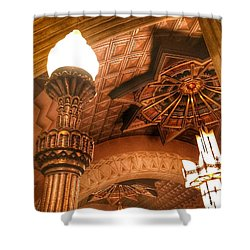 Art Deco Ceiling Shower Curtain