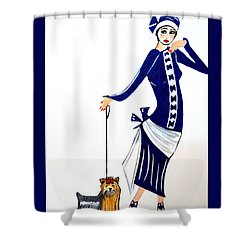 Art Deco  Diane 1920's Shower Curtain