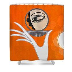 Art Deco Fashion Illustration Shower Curtain