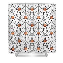 Marvelous Art Deco Leaves 1 Shower Curtain