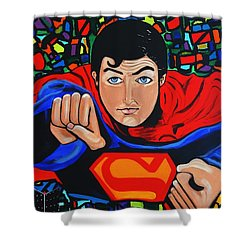 Art Deco  Superman Shower Curtain