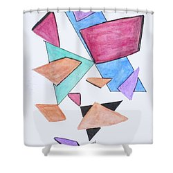 Art Doodle No. 1 Shower Curtain