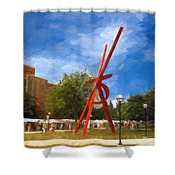 Art Fair Painting Shower Curtain