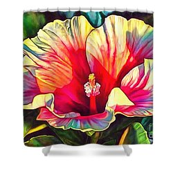 Art Floral Interior Design On Canvas Shower Curtain