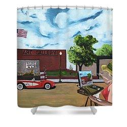 Art Gal 2 Shower Curtain
