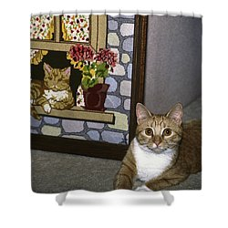 Art Imitates Life Shower Curtain by Sally Weigand
