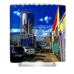 Art In The Alley Shower Curtain