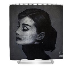 Art In The News 98-audrey Hepburn Shower Curtain