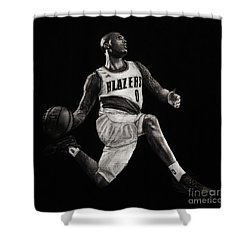 Art In The News- Lillard Shower Curtain