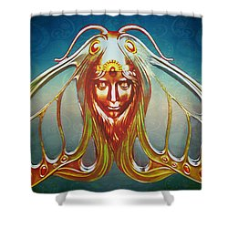 Art Nouveau Butterfly Woman Shower Curtain