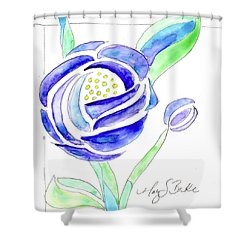 Art Nouveau Roses II Shower Curtain