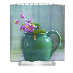 Art Of Begonia Shower Curtain