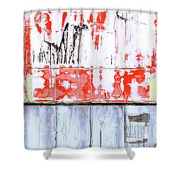 Shower Curtain featuring the painting Art Print Abstract 91 by Harry Gruenert