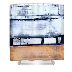 Shower Curtain featuring the painting Art Print Abstract 95 by Harry Gruenert