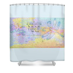 Shower Curtain featuring the painting Art Washes The Soul by Kerri Farley
