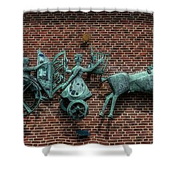 Art Work In Ystad, Sweden Shower Curtain