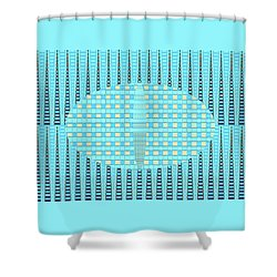 Artful Design Aqua - Manipulated Photography Shower Curtain