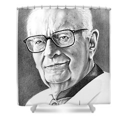 Arthur C. Clarke Shower Curtain by Murphy Elliott