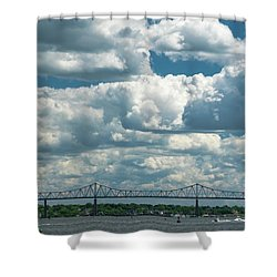 Arthur Kill And Outerbridge Crossing Shower Curtain