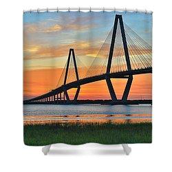 Arthur Ravenel Jr. Bridge At Dusk - Charleston Sc Shower Curtain